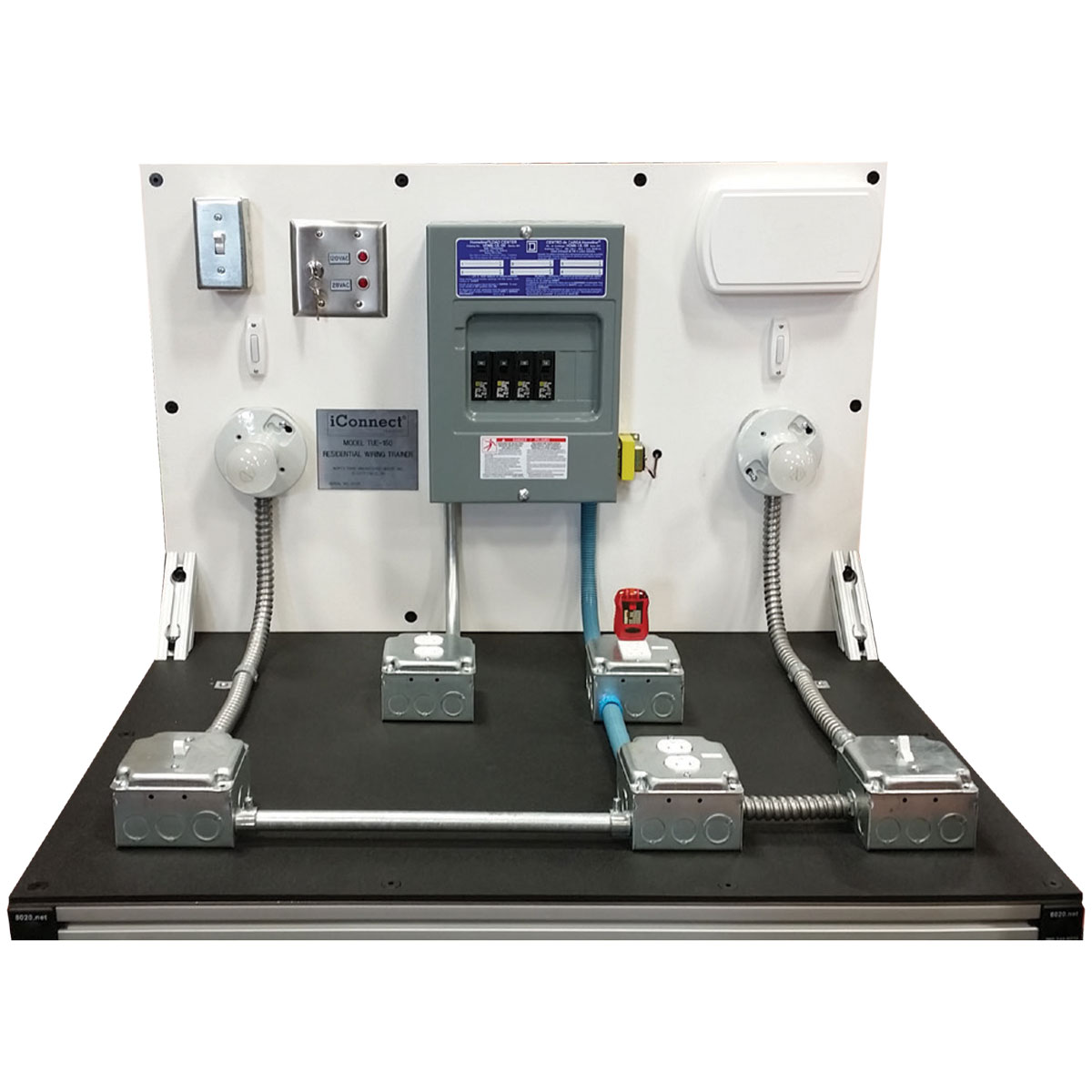 TUE-150 Residential Wiring Trainer - Trainer Panel - iConnect Training