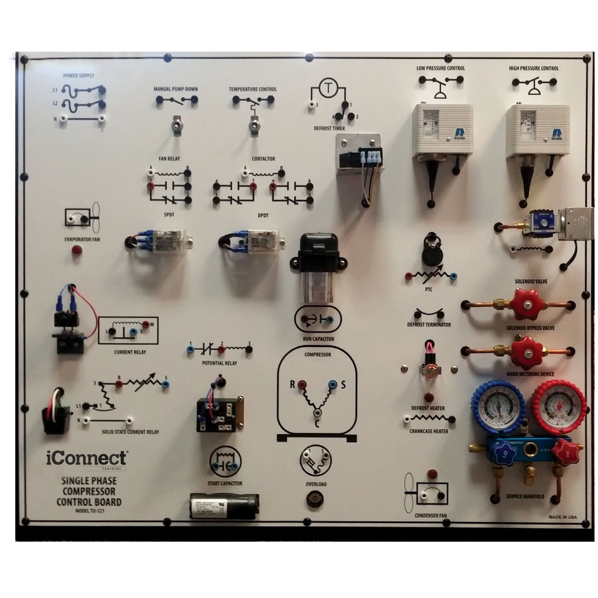 TU-521 Control Board, Single Phase Compressor Trainer