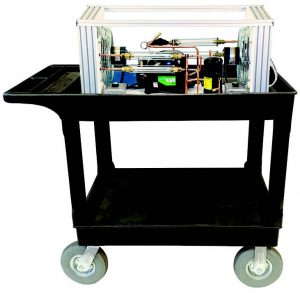 TU-805 Mobile Table-Top Air Conditioning & Refrigeration Trainer on a cart