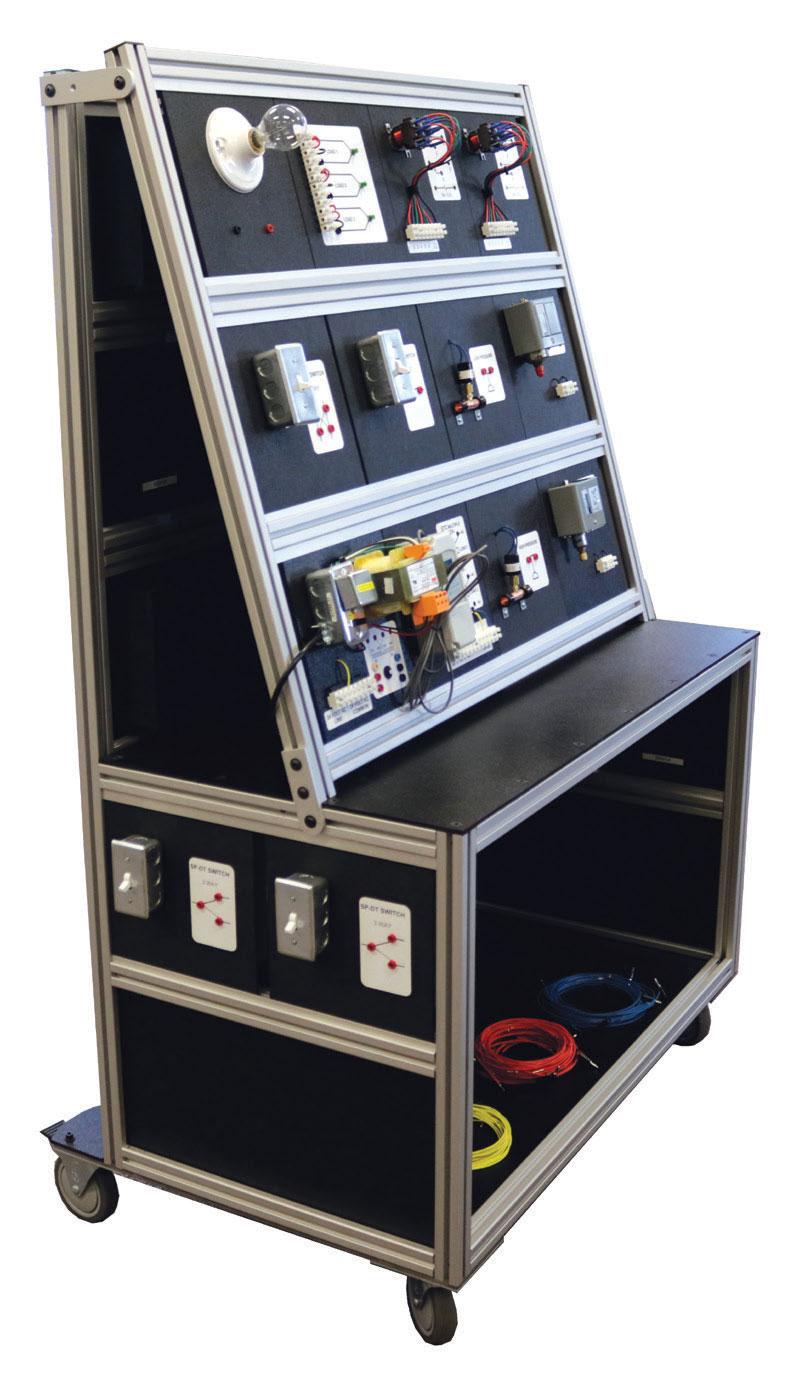 TU-9240 HVAC Electrical Control Training Unit - hvac electrical training boards