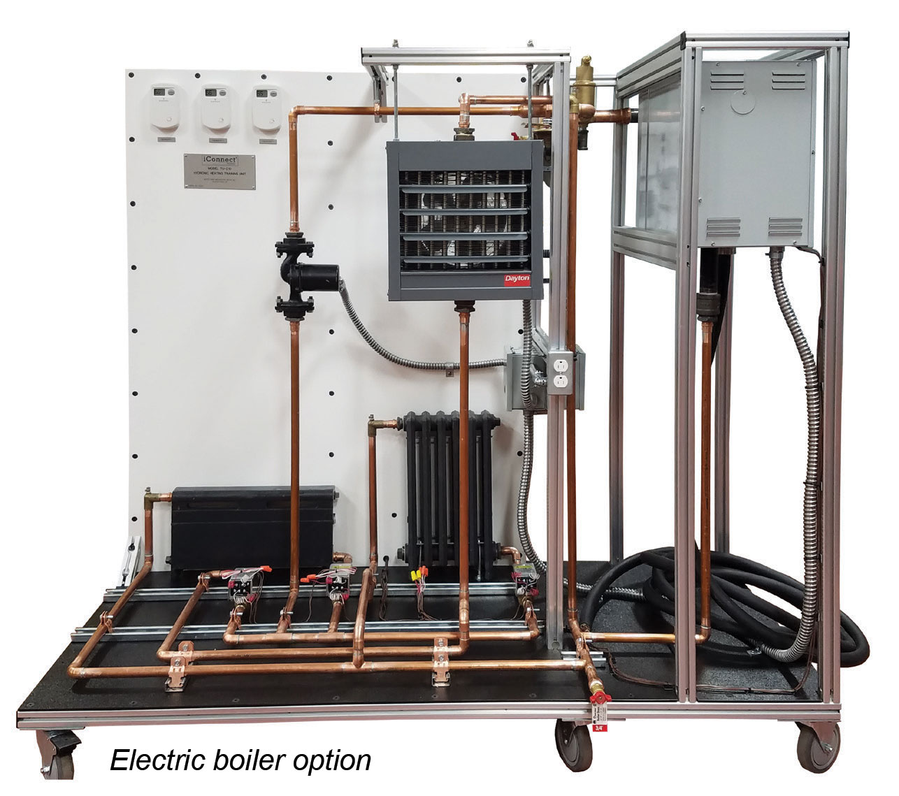 TU-210 Hydronic Heating Training Unit with electric boiler option